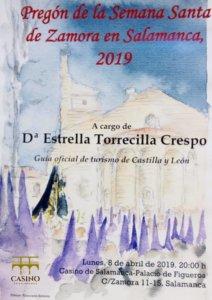 Casino de Salamanca Pregón de la Semana Santa de Zamora en Salamanca Abril 2019