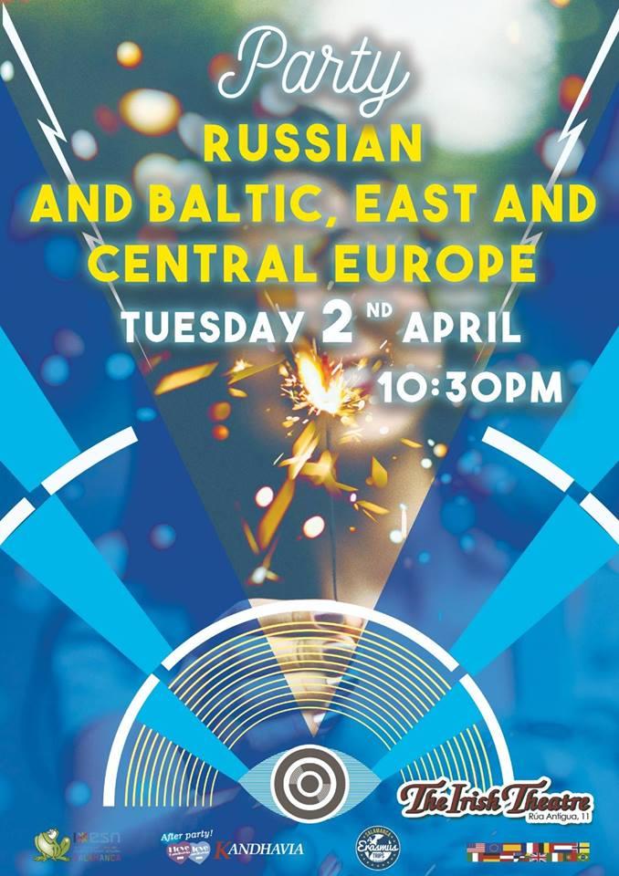 The Irish Theatre Fiesta Rusa, Griega, Báltica y del Centro y Este de Europa Salamanca Abril 2019