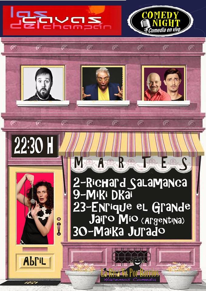 Las Cavas del Champán Comedy Night Salamanca Abril 2019