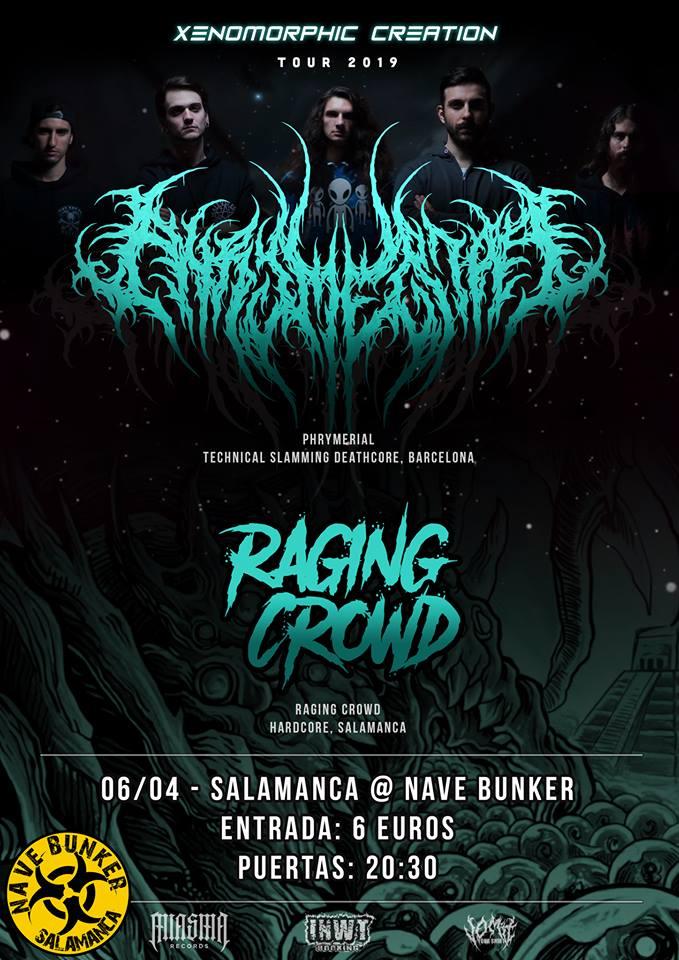 Nave Bunker Phrymerial + Raging Crowd Villares de la Reina Abril 2019