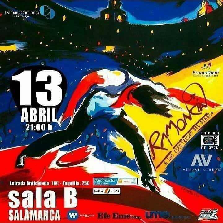 Centro de las Artes Escénicas y de la Música CAEM Ramoncín & Los Eléctricos del Diablo Salamanca Abril 2019
