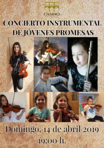Casino de Salamanca Concierto Instrumental de Jóvenes Promesas Salamanca Abril 2019