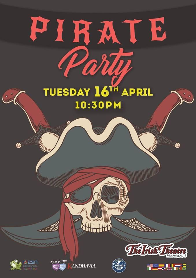 The Irish Theatre Pirate Party Salamanca Abril 2019