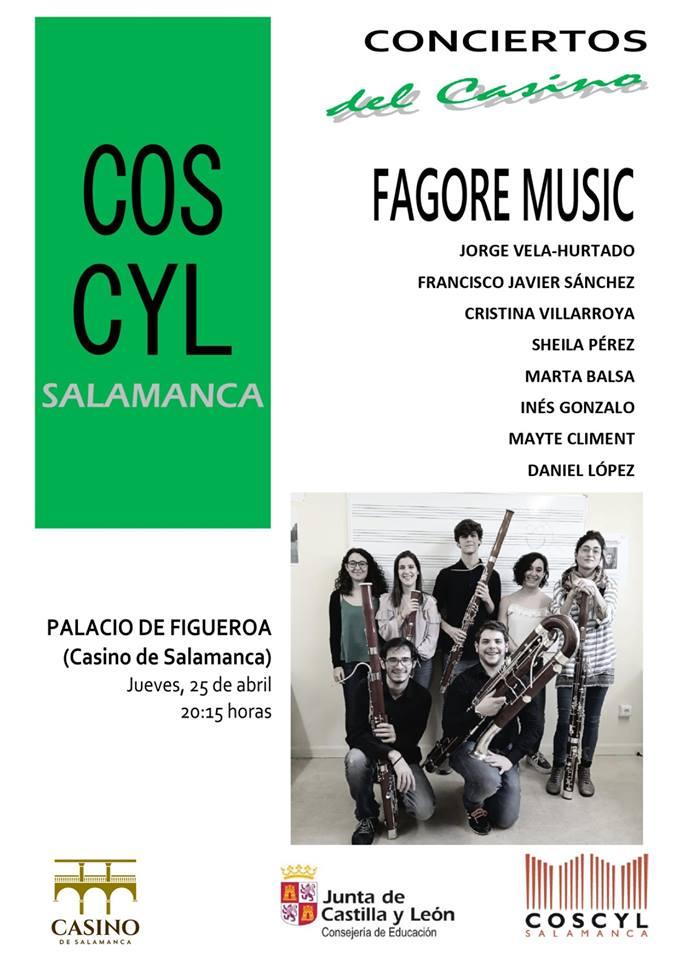 Casino de Salamanca Fagore Music Abril 2019