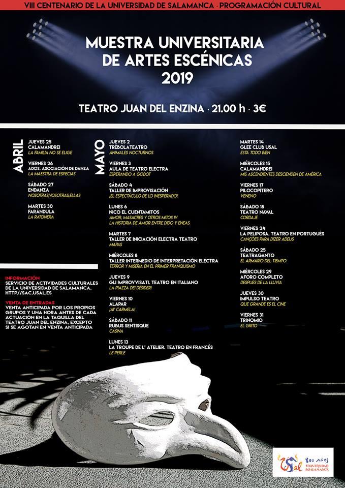 Aula Teatro Juan del Enzina Muestra Universitaria de Artes Escénicas 2019 Universidad de Salamanca