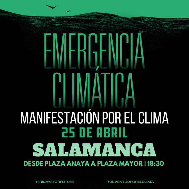 Plaza de Anaya Manifestación por el Clima Salamanca Abril 2019