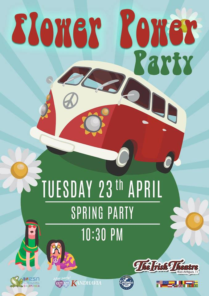 The Irish Theatre Flower Power Party Salamanca Abril 2019