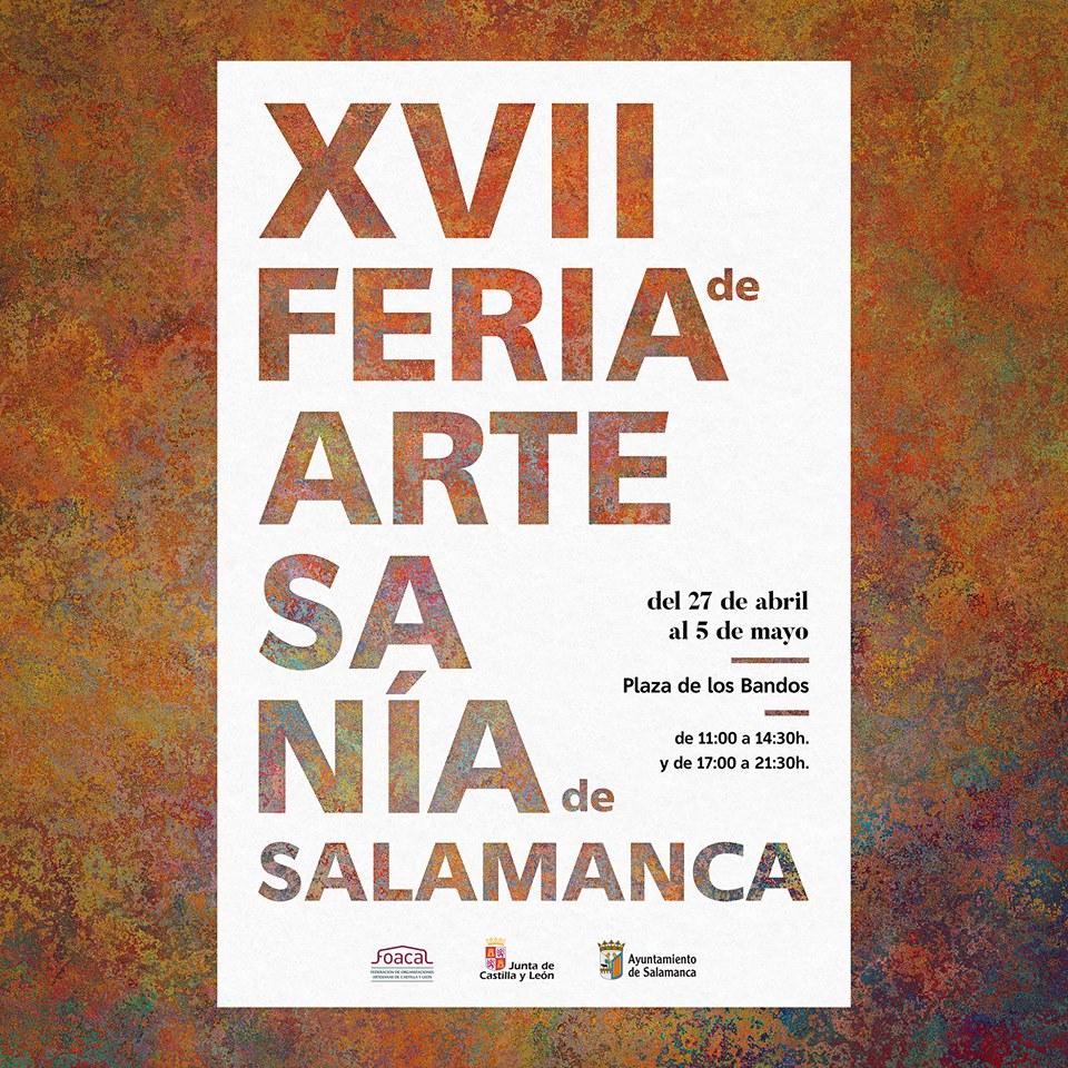 Plaza de los Bandos XVII Feria Nacional de Artesanía Salamanca Abril mayo 2019