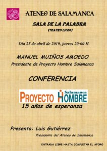 Teatro Liceo Manuel Muiños Amoedo Ateneo de Salamanca Abril 2019