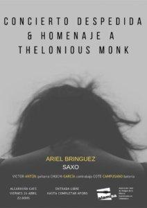 El Alcaraván Concierto Despedida & Homenaje a Thelonious Monk ALAMISA Salamanca Abril 2019