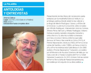 Teatro Liceo Antologías y Entrevistas Salamanca Abril 2019