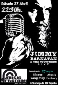 Music Factory Jimmy Barnatán & The Cocooners Salamanca Abril 2019