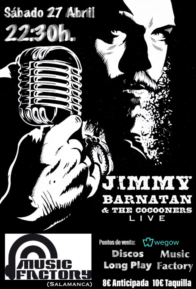 Music Factory Jimmy Barnatán & The Cocooners Salamanca Abril 2019