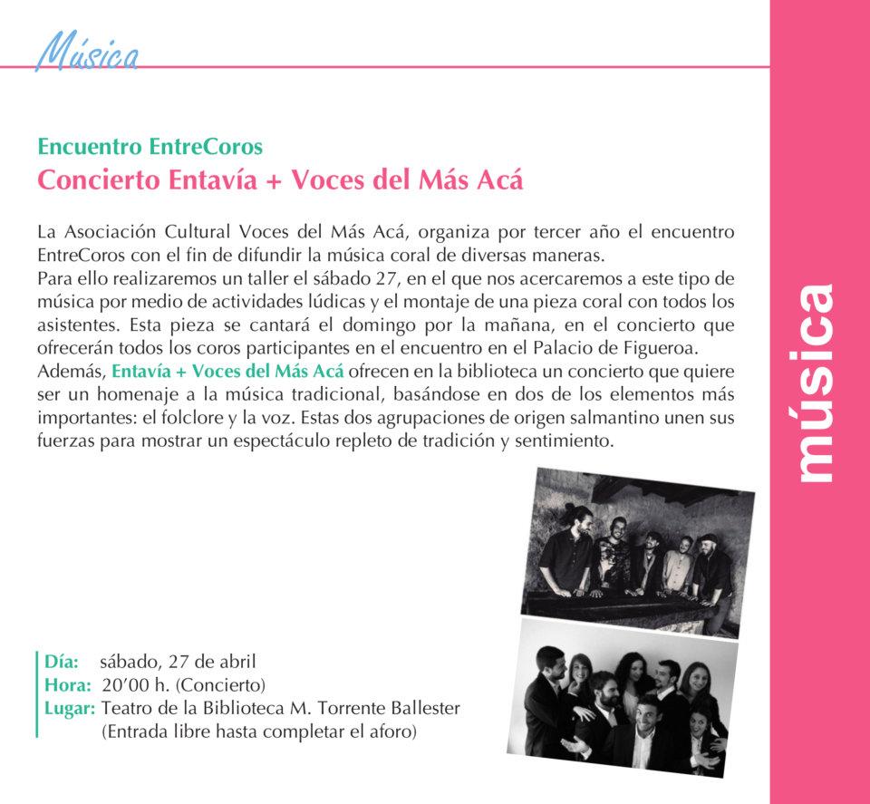 Torrente Ballester Entavía + Voces del Más Acá Salamanca Abril 2019.