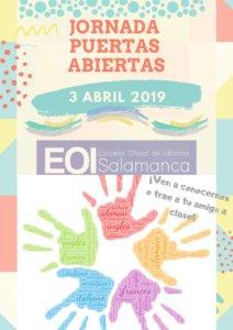 Escuela Oficial de Idiomas Jornada de Puertas Abiertas Salamanca Abril 2019