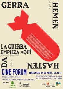 Filmoteca de Castilla y León Ciclo Sociedad solidaria y cine Salamanca Abril 2019