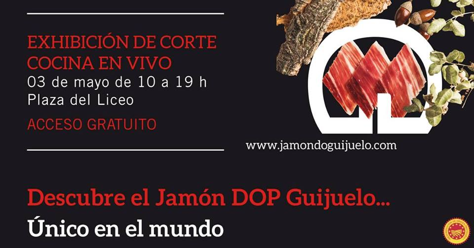Plaza del Liceo Jornada Divulgativa del Jamón Ibérico Salamanca Mayo 2019
