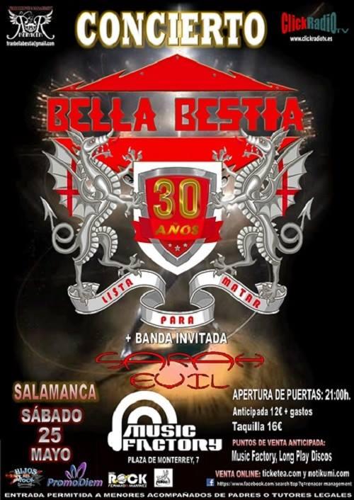 Music Factory Bella Bestia + Sarah Evil Salamanca Mayo 2019