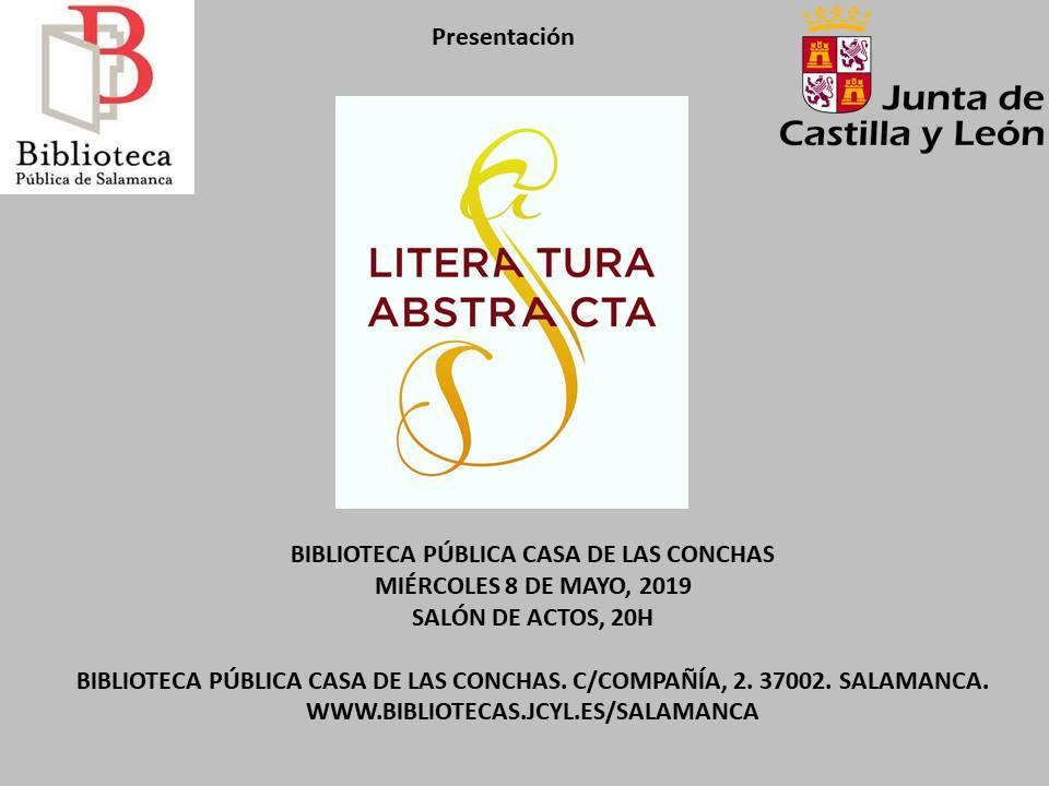 Casa de las Conchas Literatura Abstracta Salamanca Mayo 2019