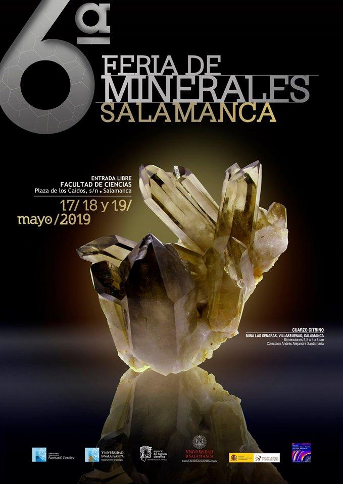 Ciencias y Ciencias Químicas VI Feria de Minerales Salamanca Mayo 2019
