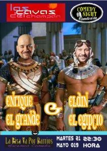 Las Cavas del Champán Enrique El Grande + Eldin El Egipcio Comedy Night Salamanca Mayo 2019