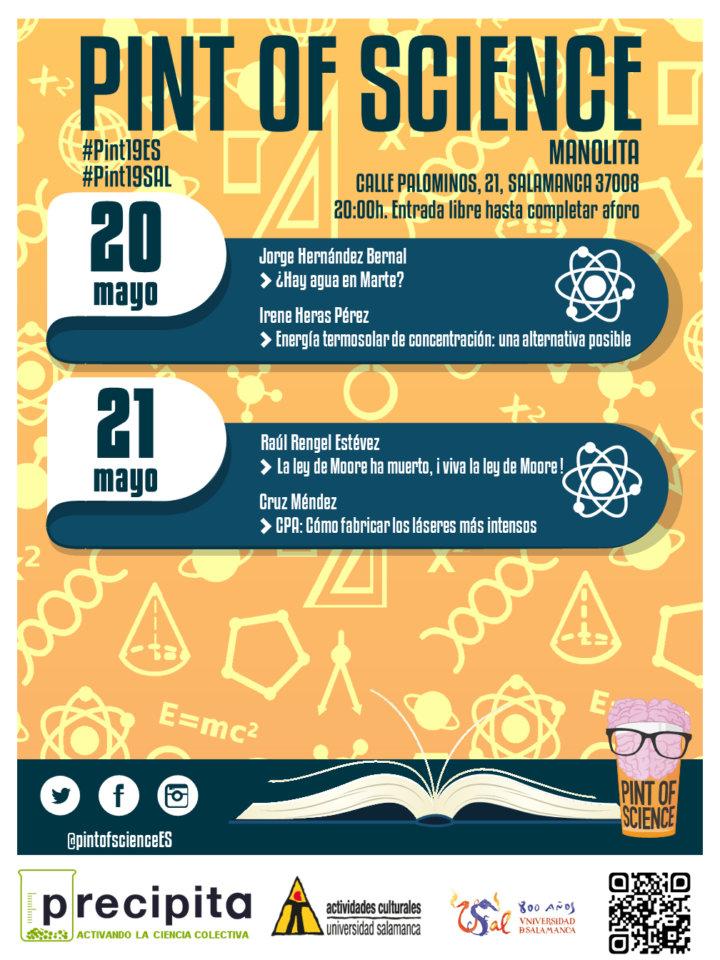Manolita Café Bar Pint of Science Salamanca Mayo 2019
