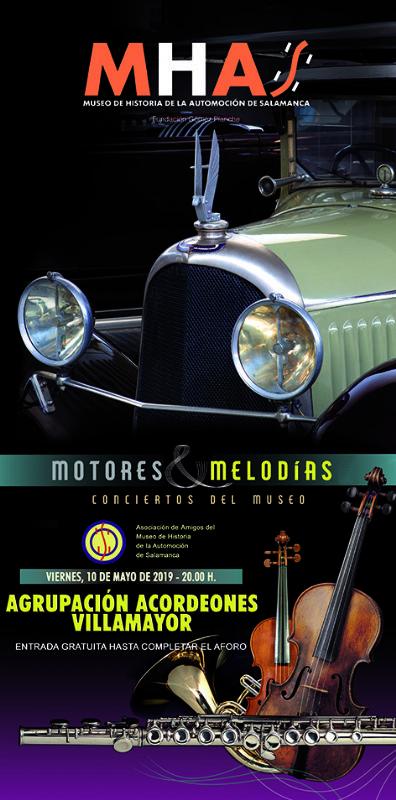 Museo de Historia de la Automoción de Salamanca MHAS Agrupación Acordeones Villamayor Mayo 2019