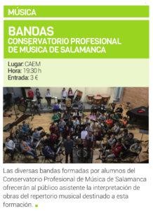Centro de las Artes Escénicas y de la Música CAEM Bandas y Coro de Padres del Conservatorio Profesional de Música de Salamanca Mayo 2019