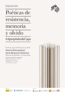 Centro Documental de la Memoria Histórica CDMH Poéticas de la resistencia, memoria y olvido. A propósito de Capa Salamanca 2019