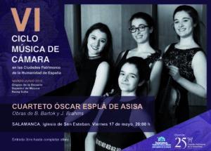 San Esteban Cuarteto Óscar Esplá de Asisa Salamanca Mayo 2019