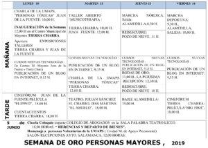 Salamanca Semana de Oro de los Mayores 2019 Junio