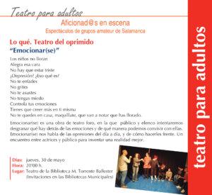 Torrente Ballester Teatro del Oprimido Teatro Salamanca Mayo 2019