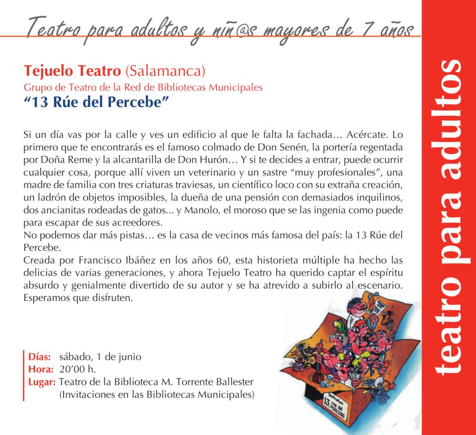 Torrente Ballester Tejuelo Teatro Salamanca Junio 2019