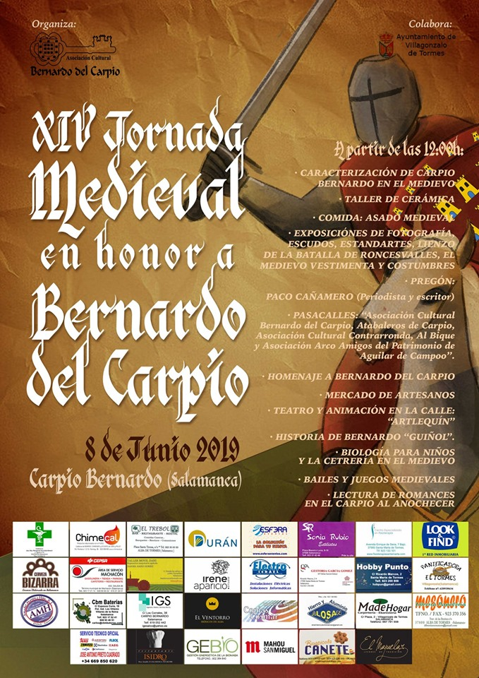Carpio Bernardo XIV Jornada Medieval en Horno a Bernardo del Carpio Junio 2019