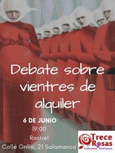 El Rastrel Debate sobre vientres de alquiler Salamanca Junio 2019