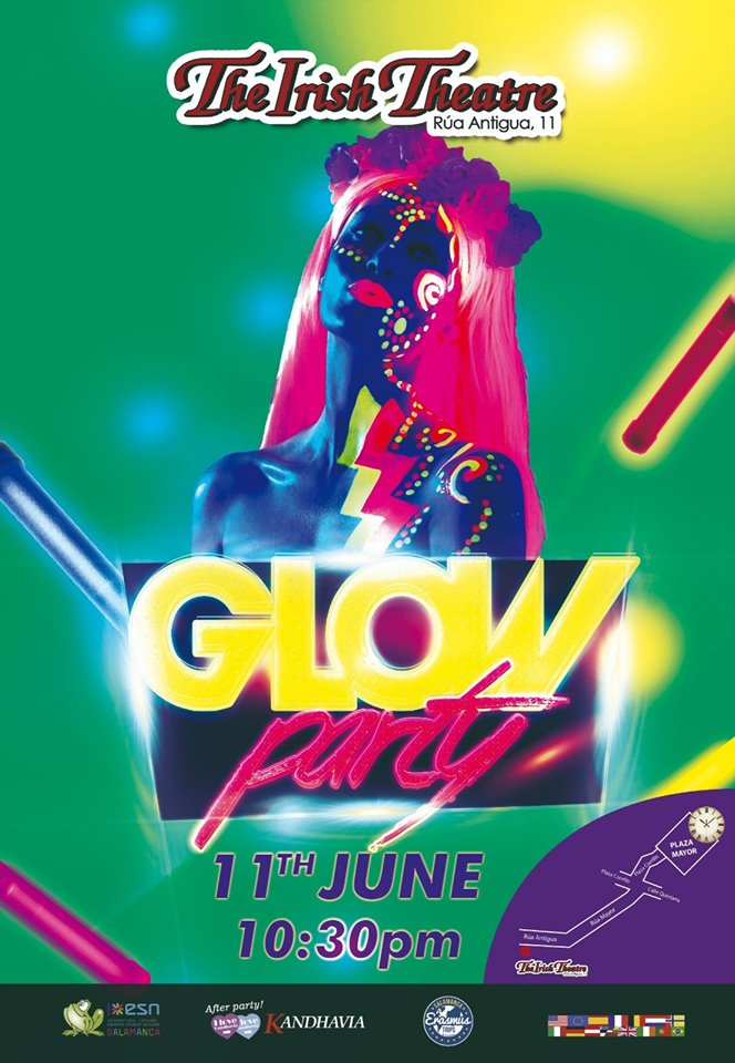 The Irish Theatre Glow Party Salamanca Junio 2019