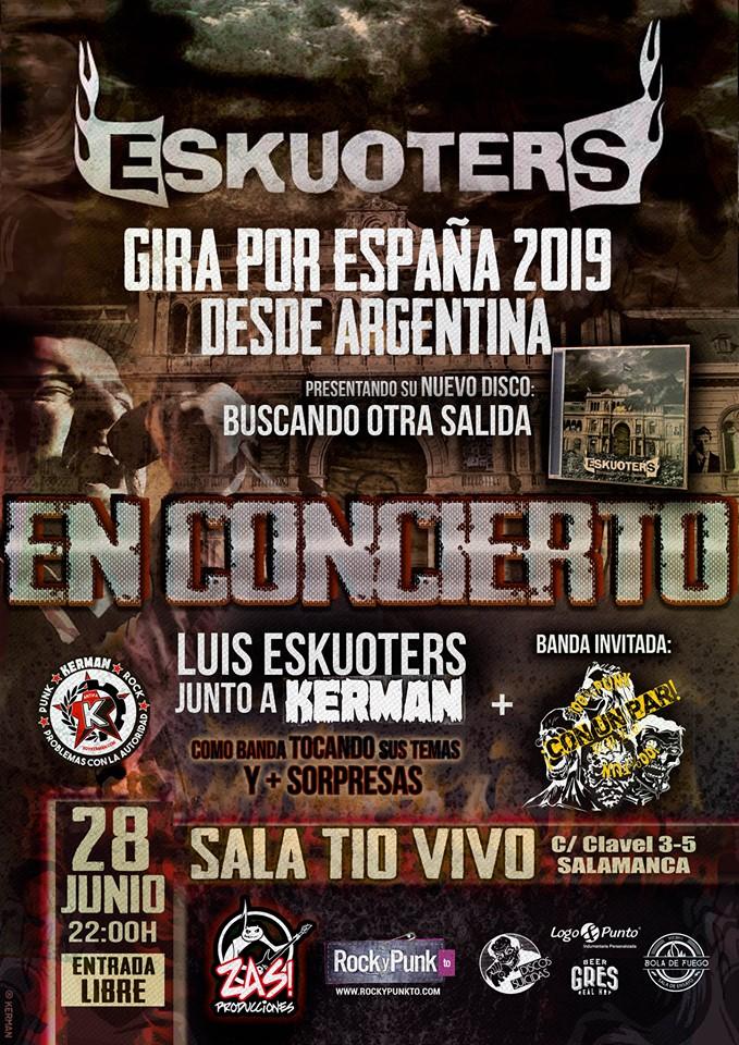 Tío Vivo Eskuoters & Kerman + ¡Con Un Par! Salamanca Junio 2019