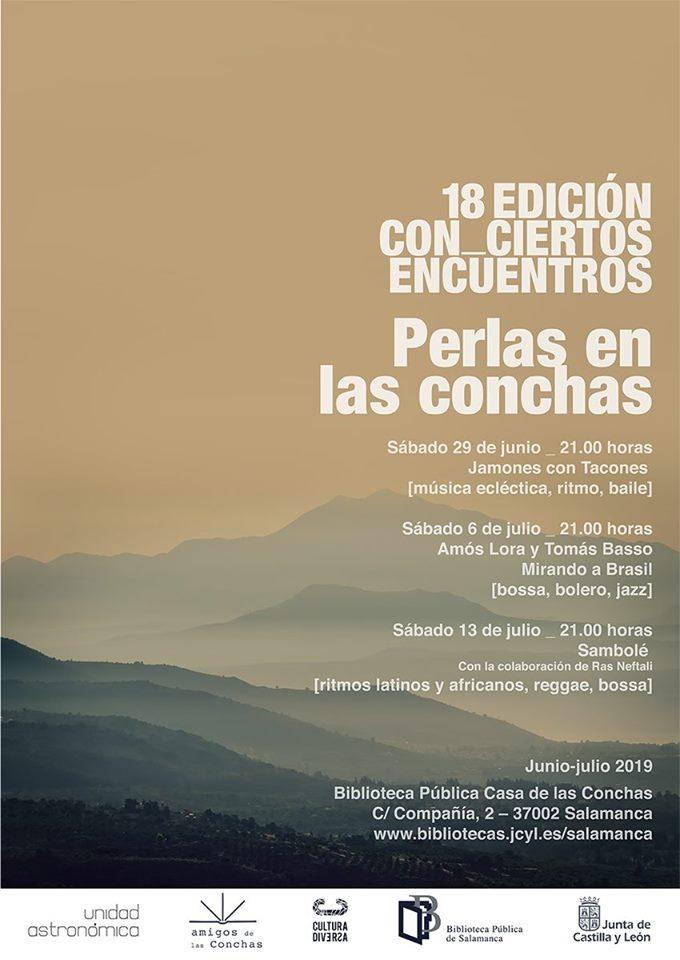 Casa de las Conchas XVIII Con_Ciertos Encuentros Salamanca Junio julio 2019