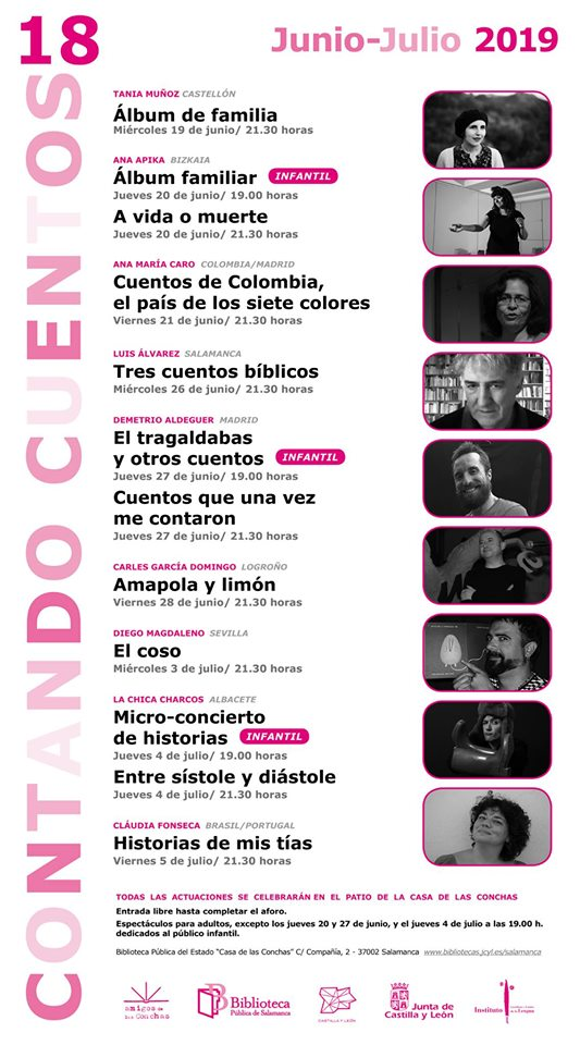 Casa de las Conchas Contando Cuentos 18 Salamanca 2019