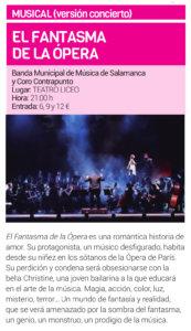 Teatro Liceo El fantasma de la ópera Salamanca Junio 2019