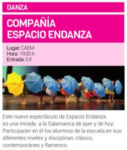 Centro de las Artes Escénicas y de la Música CAEM Espacio Endanza Salamanca Junio 2019