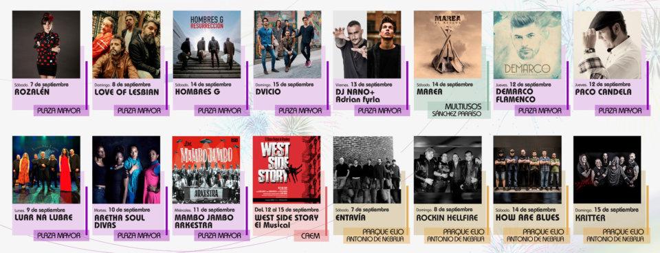 Ferias y Fiestas Salamanca 2019 Conciertos