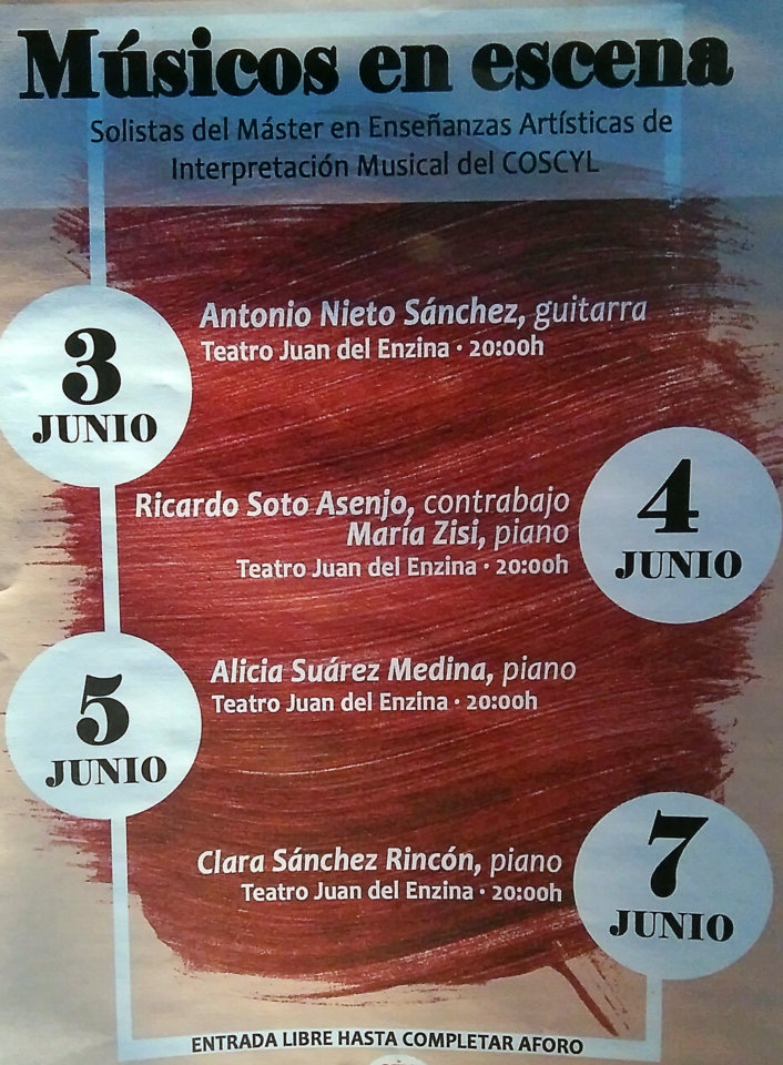 Aula Teatro Juan del Enzina Música en Escena Salamanca Junio 2019