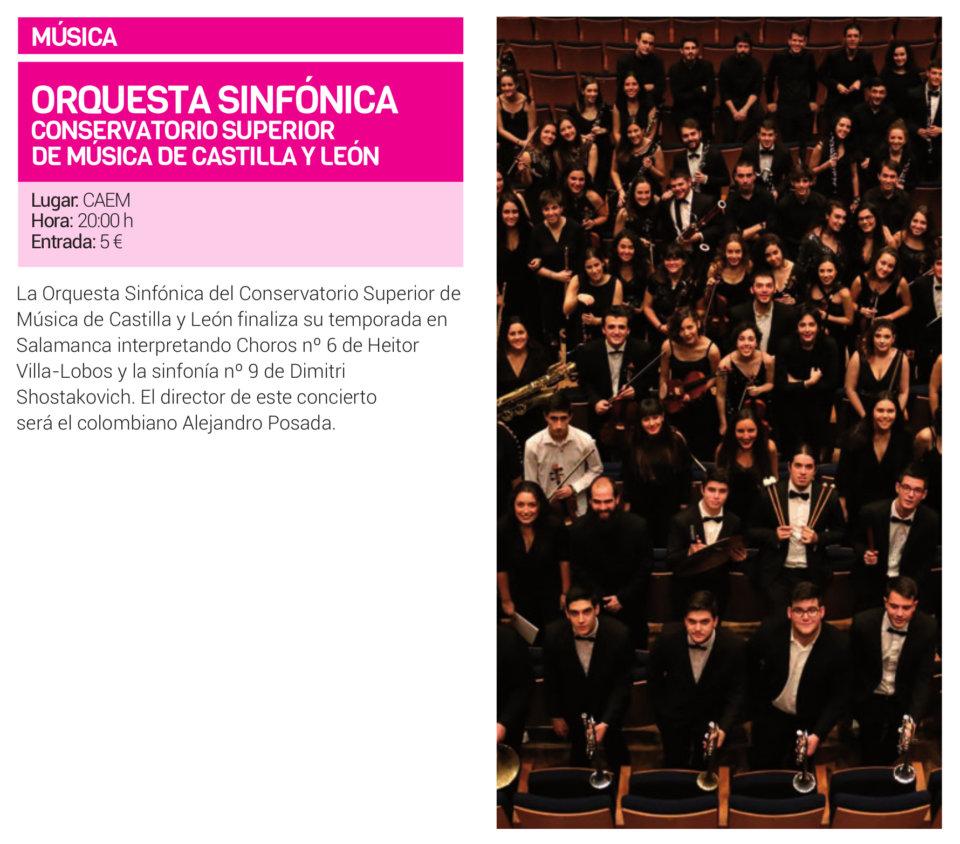 Centro de las Artes Escénicas y de la Música CAEM Orquesta Sinfónica del Conservatorio Superior de Música de Castilla y León Salamanca Junio 2019