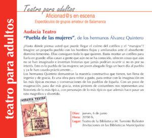 Torrente Ballester Audacia Teatro Salamanca Junio 2019