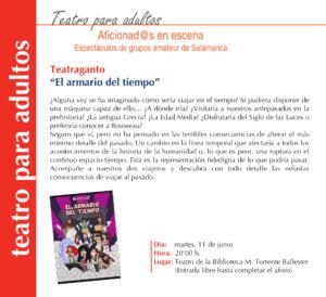 Torrente Ballester Teatraganto Salamanca Junio 2019