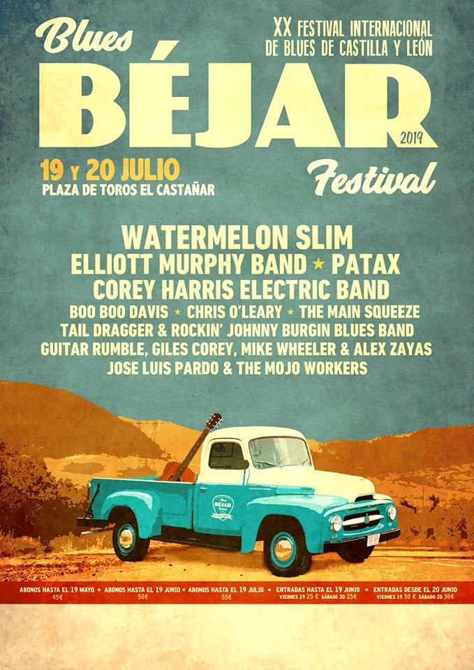 Béjar XX Festival Internacional de Blues de Castilla y León Blues Béjar Festival 2019 Julio
