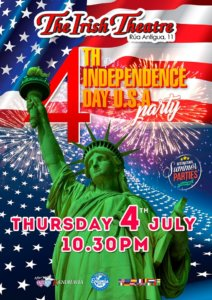 The Irish Theatre 4th July Independece Day Party Salamanca Julio 2019