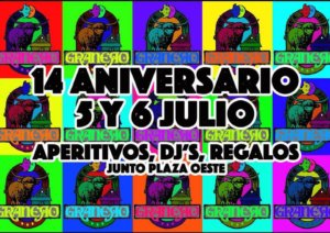 Bar Granero XIV Aniversario Salamanca Julio 2019