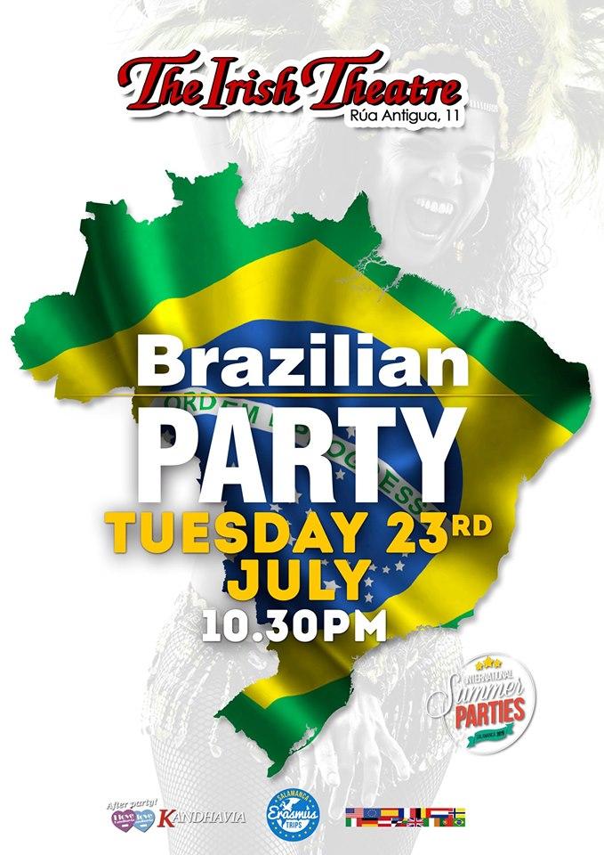The Irish Theatre Brazilian Party Salamanca Julio 2019